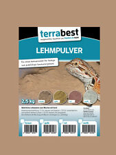 Terrabest Lehmpulver - braun 2,5kg zum mischen von Terrariensand Naturlehm