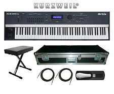 Kurzweil Artis 88 Key Stage Piano *New* BUNDLE 1 Includes: BENCH, CASE and MORE!