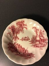 VINTAGE JOHNSON BROTHERS THE OLD MILL DESERT DISH MADE IN ENGLAND TRANSFERWARE
