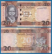South Sudan 20 Pounds P New 2015 (2016) UNC Low Shipping! Combine FREE!