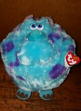 "SULLEY Ty Beanie Ballz 8"" Disney Pixar Monsters Inc University NEW NWT"