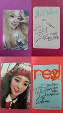 LOT of 2 RED VELVET IRENE Official Photo Card Ice Cream Cake + The Red Photocard