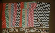 DIY Adventskalender Selbstbefüllen 24 bunte Papiertüten Tüten 24 Zahlen silber