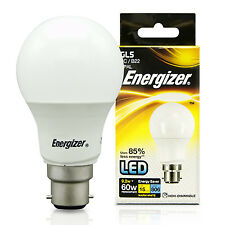 10x Energizer 9w Watt LED GLS BC B22 Cap Energy Saving Light Bulb 60w Equivalent