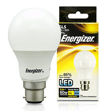 4x Energizer 60 Watt LED Bayonet Cap High Power Energy Saving Light Bulb 9w= 60w