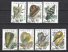 Animaux Coquillages Tanzanie (132) série complète 7 timbres oblitérés