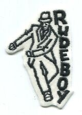 RUDEBOY: EMBROIDERED PATCH **FREE SHIPPING** iron/sew on ska rude boy
