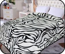 Hiyoko Zebra Animal Mink Blanket Throw Bedspread Comforter Coverlet 90x75