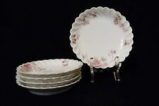 5 Atq Haviland & Co Small Bowls Torse Schleiger 1152-16 Pink & Gray Flowers