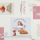 1950's Housewife Multi Colour PVC Vinyl Wipeclean Tablecloth; Rectangle, Round