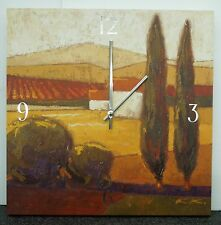 "LARGE 16"" CLOCK - DISPLAYING A COUNTRY SCENE- ON POSTER BOARD FINISH"