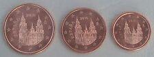 1+2+5 euro cent Spanien 2016 unz