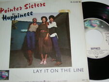 "7"" - Pointer Sisters HAPPINESS & Lay it on the line-PROMO 1979 MINT # 5701"