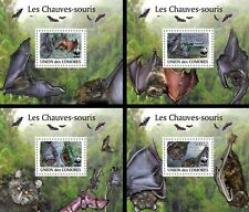 Z08 Cmdelux16perf COMORES 2010 Bats WWF 4 s/s MNH