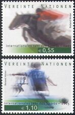 UN (V) 2005 Sports/Games/Horses/Show Jumping/Football/Soccer 2v set (n35074)