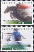 UN (V) 2005 Sports/Games/Horses/Show Jumping/Football/Soccer 2v set (n35074)