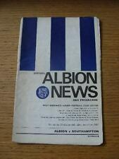 23/12/1967 West Bromwich Albion v Southampton  (creased cover with some faint ma