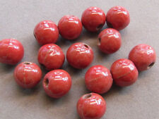 18 Red 14mm  Porcelain Beads(G166AK13)