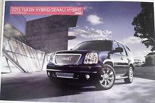 NEW OEM GM 2013 GMC YUKON DENALI HYBRID TRUCK  AUTO POSTER OR VEHICLE PORTRAIT