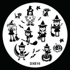 Halloween Design Nail Art Image Stamp Stamping Plate Manicure Template Tool D-16