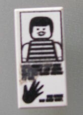 LEGO 3069bpx35 @@ Tile 1 x 2 Hand Print Striped Shirt Pattern @@ 6332 6598 6636
