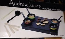 Andrew James Party Wok Grill Teppanyaki Hot Plate Hob + Pancake Crepe Function
