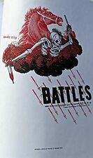 Battles  MINI-POSTER Reprint  FOR BLOOMINGTON INDIANA. CONCERT 2004- 14x10
