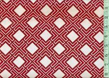 1/2 yd Springs FLANNEL Red and White Diamond Tiles BTHY