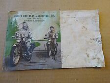 Original 1950 Harley Davidson Motorcycle Illustrated Servi-Car Envelope