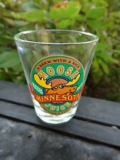 Liquor Shot Whiskey Glass    MINNESOTA Moose Juice Rugged Ale ~*~ Brew w/ A Kick
