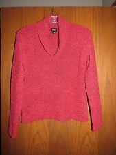 Eileen Fisher Rhubarb Cozy Merino Wool Cashmere Melange Shawl Collar Sweater S