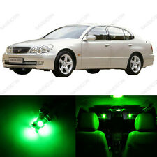 11 x Green LED Interior Lights Package For 1998 - 2005 Lexus GS300 GS400 GS430