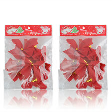 24Pc Glitter Christmas Ribbon Baubles Xmas Tree Hanging Ornament Christmas Decor