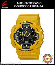 New Authentic Casio G-Shock GA100A-9A Bumblebee Ana-Digi Watch