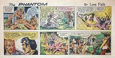 The Phantom by Lee Falk & Sy Barry - lot of 9 color Sunday pages from late 1970