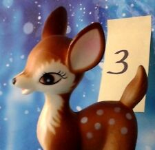 "Vintage Plastic Bambi Style Fawn Standing Deer 6""T Christmas Decor 3 of 5 Japan"