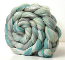 Merino Wool & Silk Fibre Blend - Frozen -  100g for Handspinning Yarn or Felting