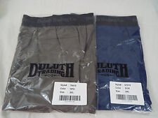 "2 Pk Duluth Trading ""Buck Naked"" Performance Navy Brief Graphite Boxer 2XL"