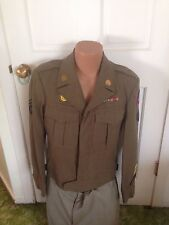 WWII 1944 US ARMY WW2 5TH Army T5 IKE JACKET tunic Size 38R Made by Dan Udell 38