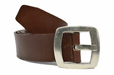 Calvin Klein Jeans Brown Leather Square Metal Buckle Belt  M