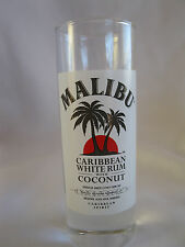 Malibu Caribbean White Rum With Coconut Tall Shot Glass Shooter