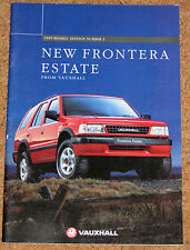1995 New VAUXHALL FRONTERA ESTATE Sales Brochure - 2.2i 16v, 2.8 TD