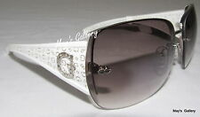 Guess Jeans Sun Glasses Glass SunGlasses Eyewear White Rimless GU 6489F Case NIB
