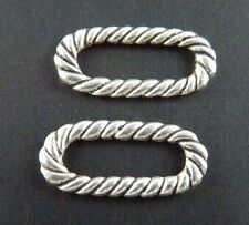 150pcs Tibetan Silver Twisted Ring Connectors 18.5x8mm 1774