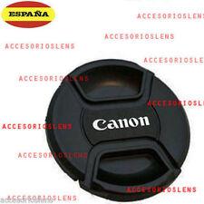 TAPA DELANTERA PARA OBJETIVO CANON 49 mm  Front Lens Cap CANON  49  CON  CORDÓN
