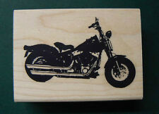 """Harley Motorcycle line art-Rubber stamp NEW 2.3 x1.5"""""""