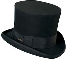 Top Hat Victorian SCALA Tuxedo Mad Hatter 100% Wool Dress Hat BLACK SMALL