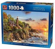 1000 Piece Landscape Collection Jigsaw Puzzle Toy - SUNSET AT CRAGGY POINT 05367