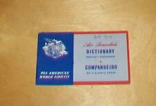 PAN AM AIR TRAVELER'S DICTIONARY ENGLISH PORTUGUESE ?1950s PAN AMERICAN WORLD