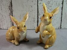 Rosenthal Netter Japan vintage  tan Rabbit figurine pair